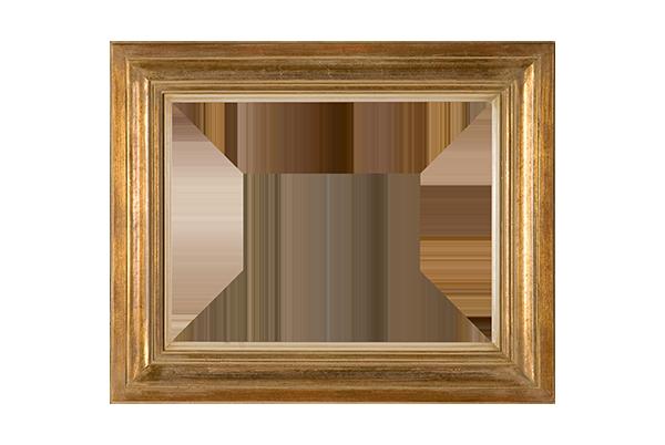 Modern goud ivoorkleurig ojief lijst