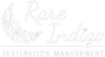 Portfolio logo - Rare Indigo Destination Management - white version
