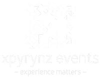Portfolio logo - xpyrynz events - white version