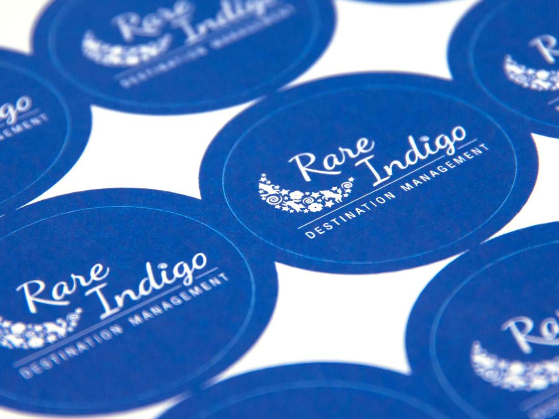 Rare Indigo logo stickers