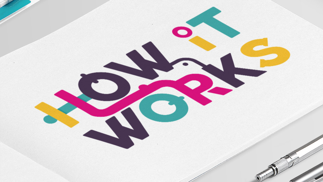 How it Works logo in activity booklet