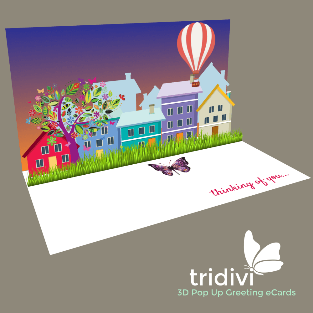 Thinking of you 3d Pop Up cards and ecards
