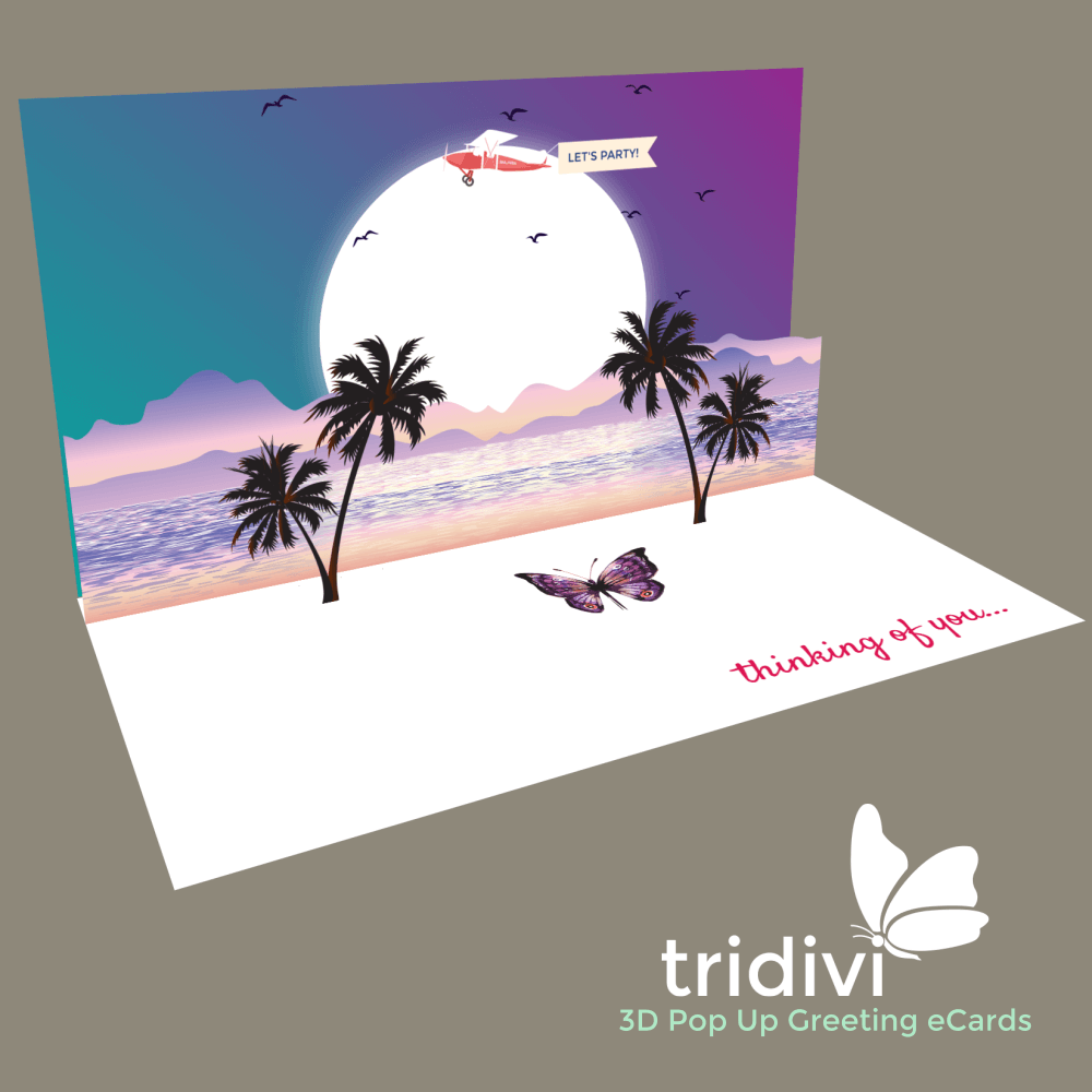 Summer 3d Pop Up cards and ecards