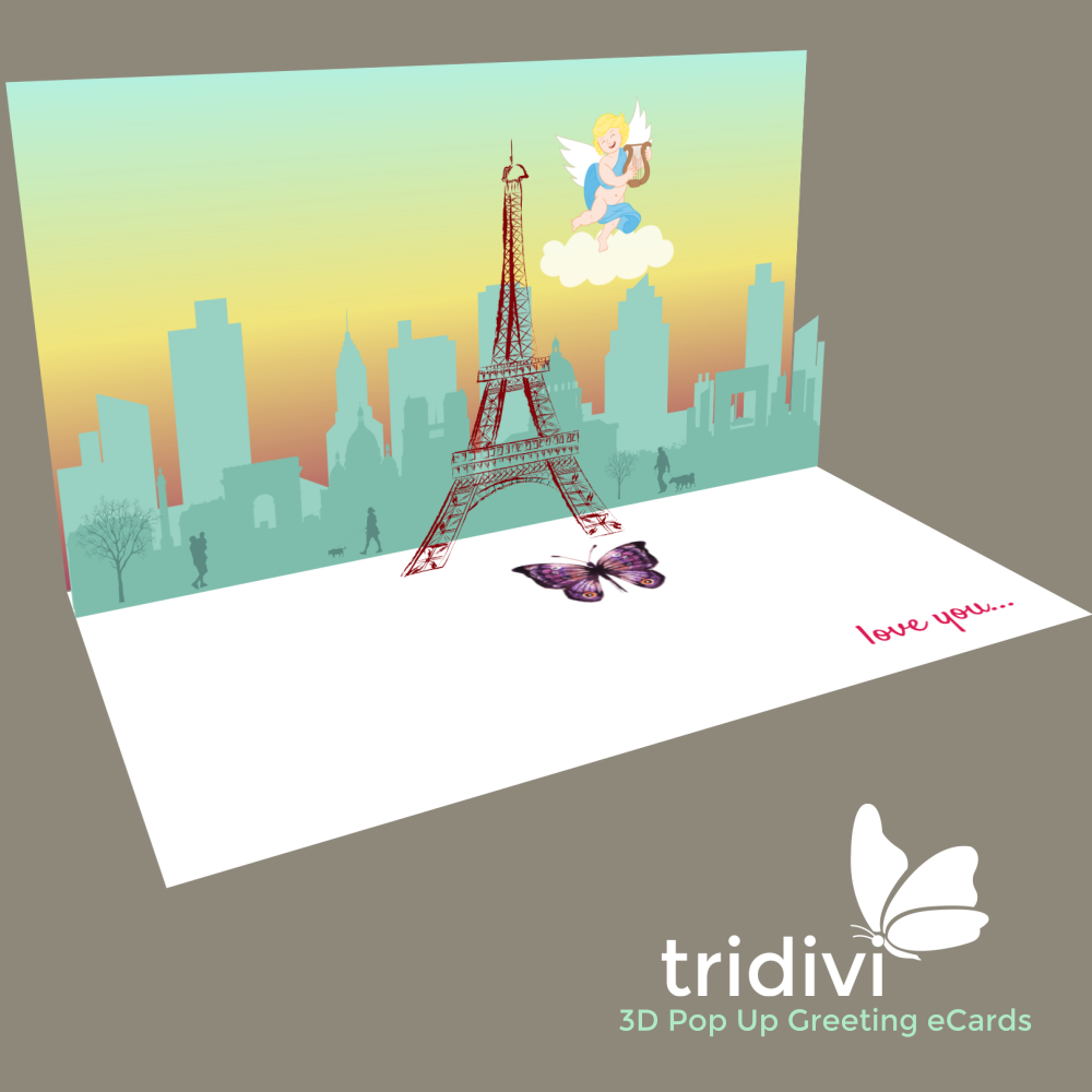 France 3d Pop Up cards and ecards