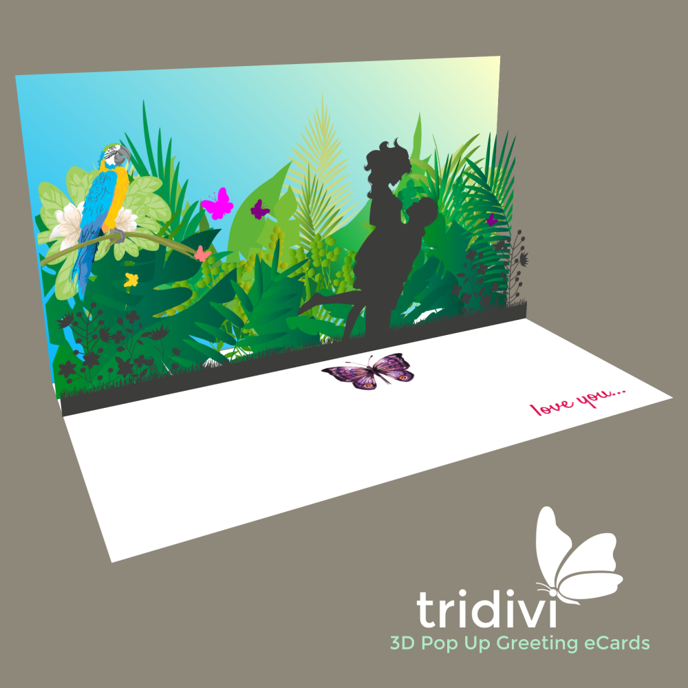 Heaven 3d Pop Up cards and ecards