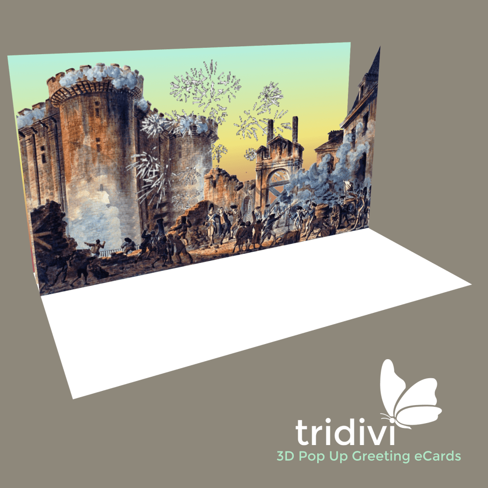 Bastille Day 3d Pop Up cards and ecards