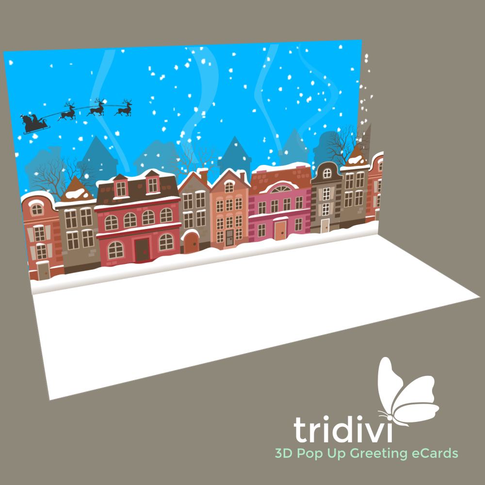 Christmas 3d Pop Up cards and ecards