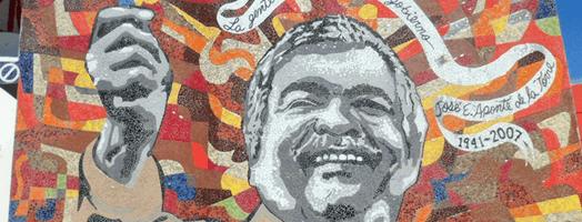 Foto de mosaico del Alcalde de Carolina, José E. Aponte De La Torre, por Cero Design.