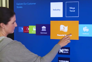 Retail Multitouch Wall