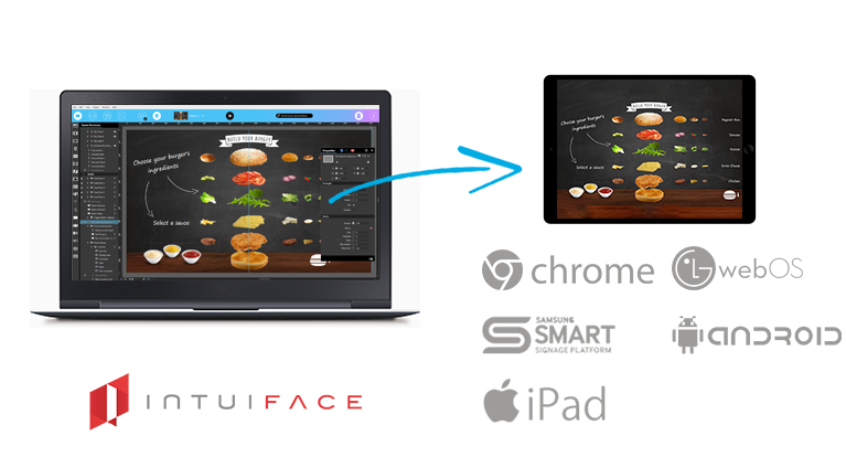 IntuiFace Digital Signage software  HTML5