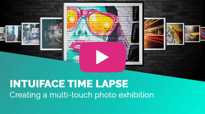 creating a multi-touch photo exhibiton