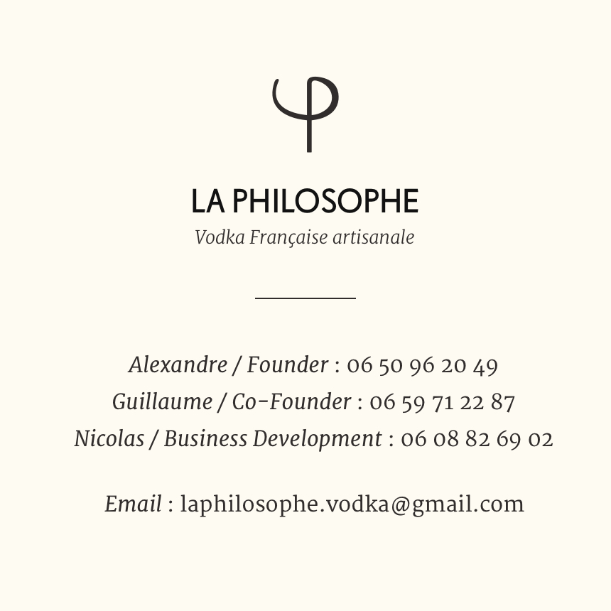 la philosophe vodka