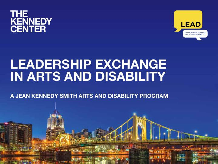 Leadership Exchange in Arts and Disability logo