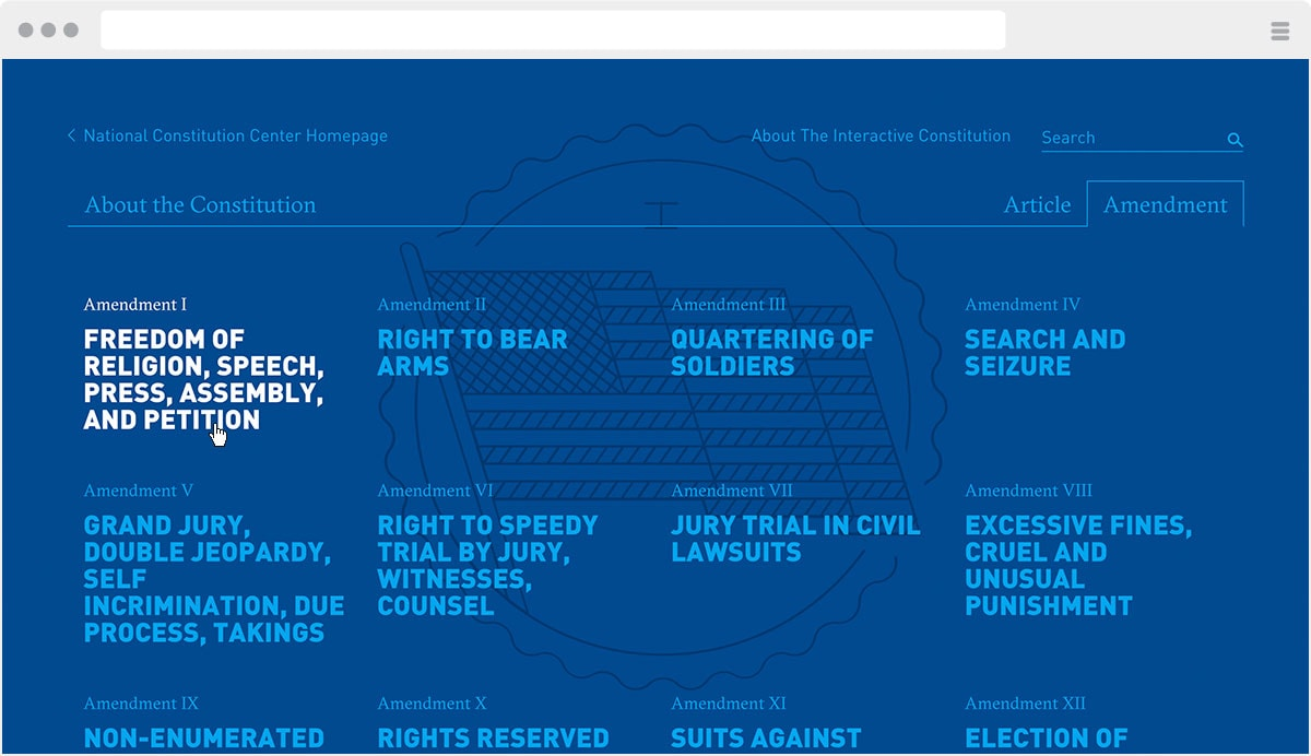 constitutioncenter.org screenshot