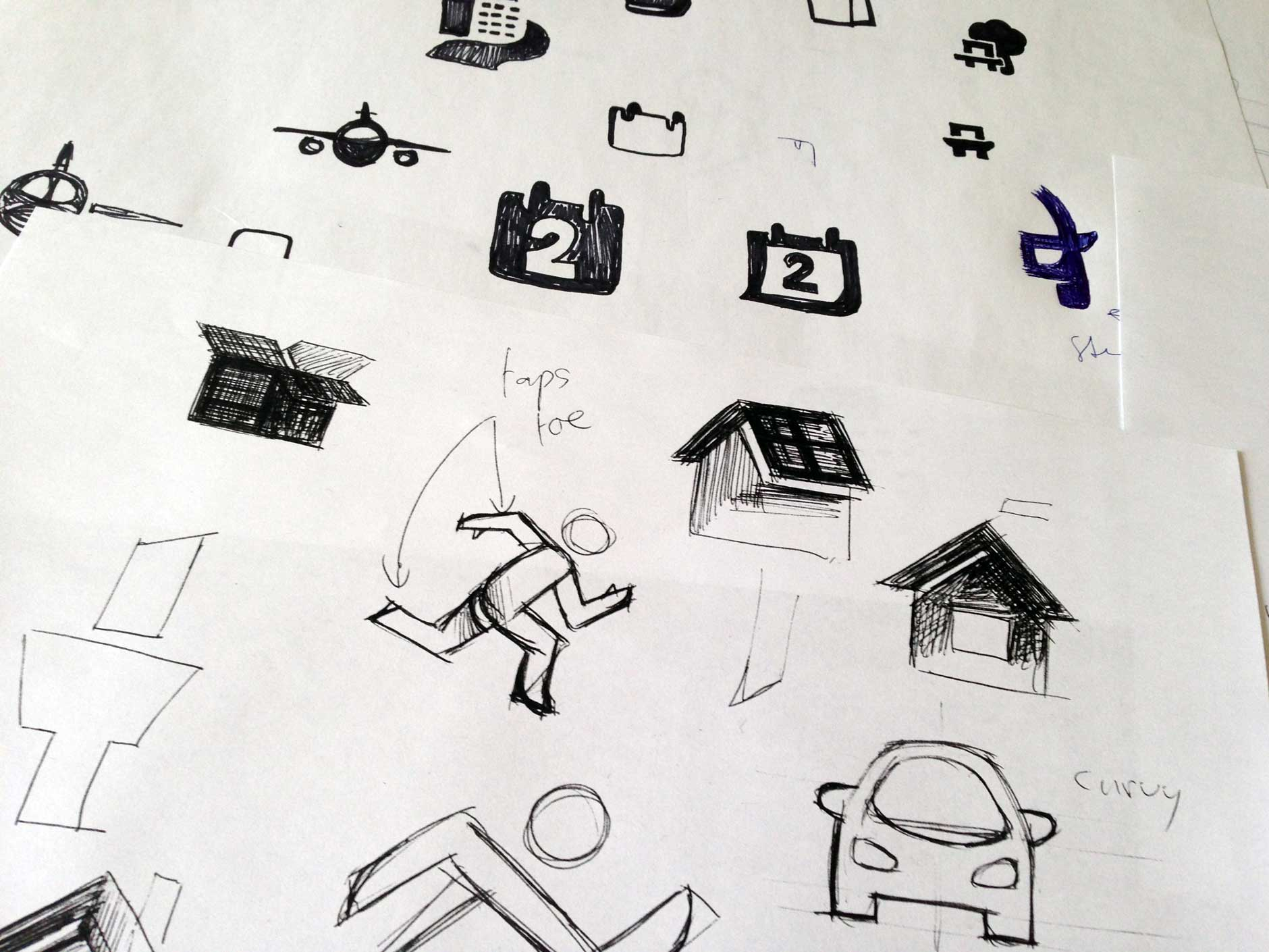 First sketches of the icon style design for the Dutch Government (Rijksoverheid) by #dutchicon.