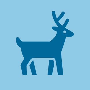Deer icon by #dutchicon for the Dutch Government (Rijksoverheid).