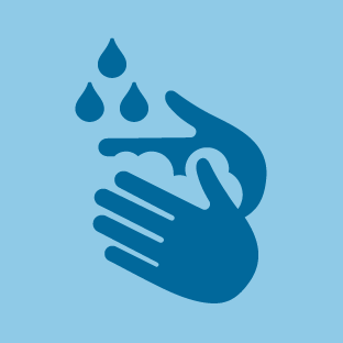 Washing Hands icon by #dutchicon for the Dutch Government (Rijksoverheid).
