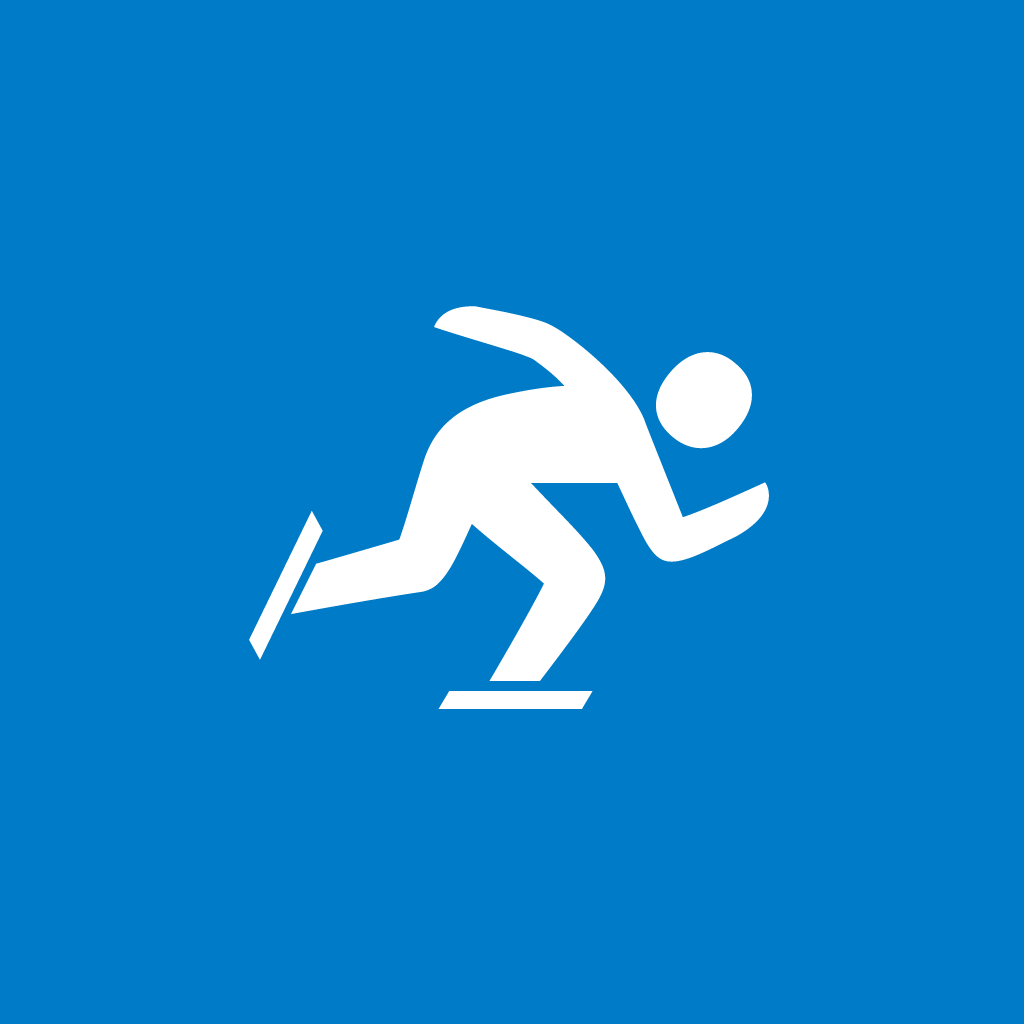 Speed Skating icon by #dutchicon for the Dutch Government (Rijksoverheid).