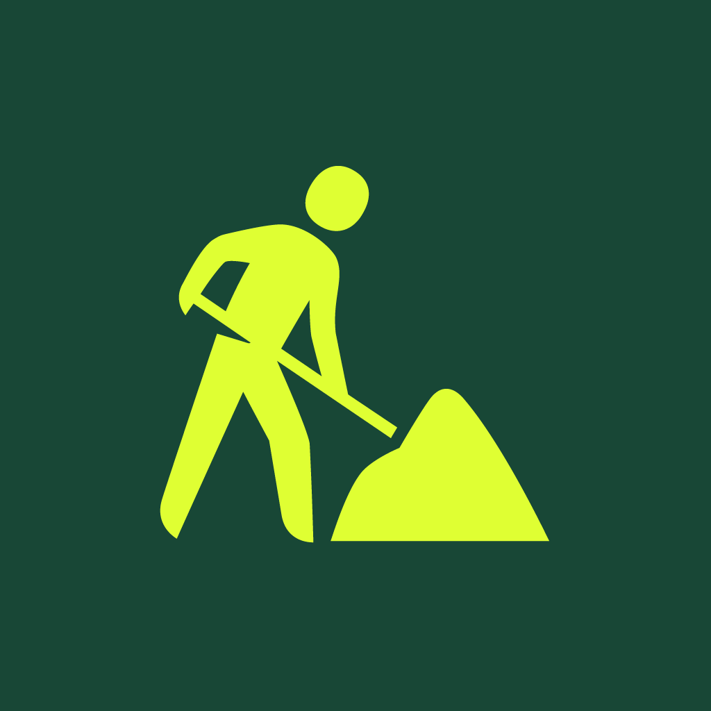 Roadwork icon by #dutchicon for the Dutch Government (Rijksoverheid).