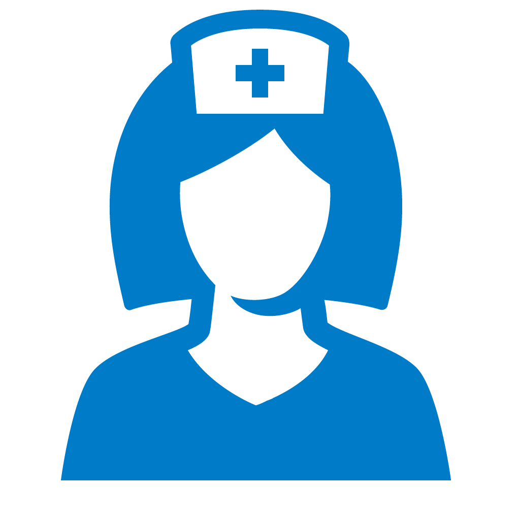 Nurse icon by #dutchicon for the Dutch Government (Rijksoverheid).