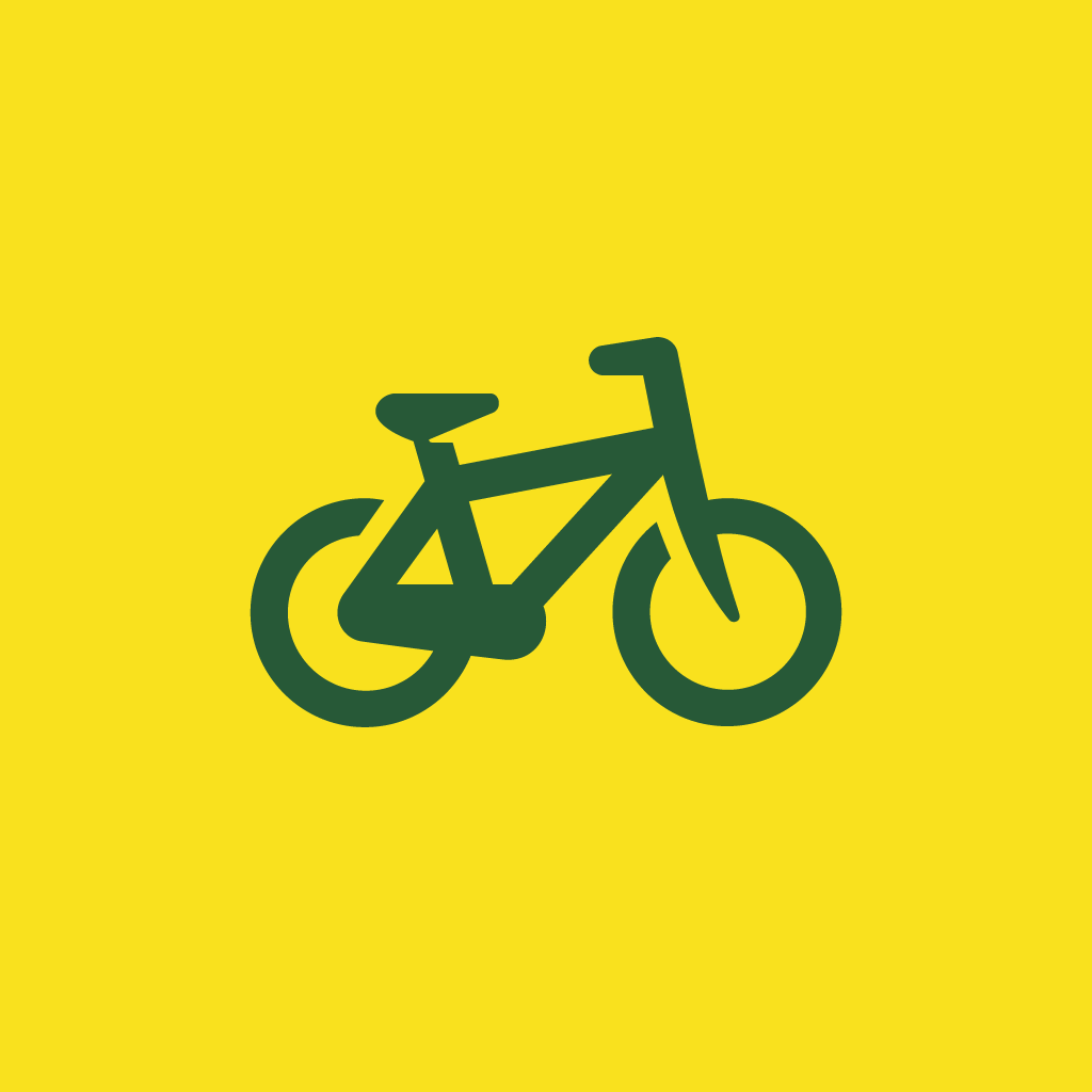 Bicycle icon by #dutchicon for the Dutch Government (Rijksoverheid).