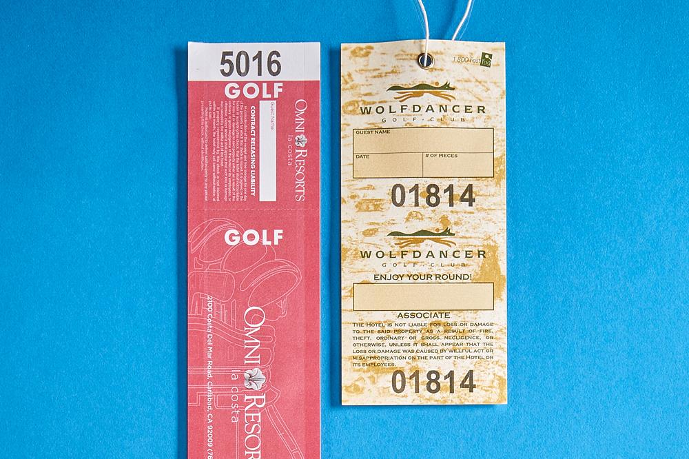 Golf Single Bag Tags