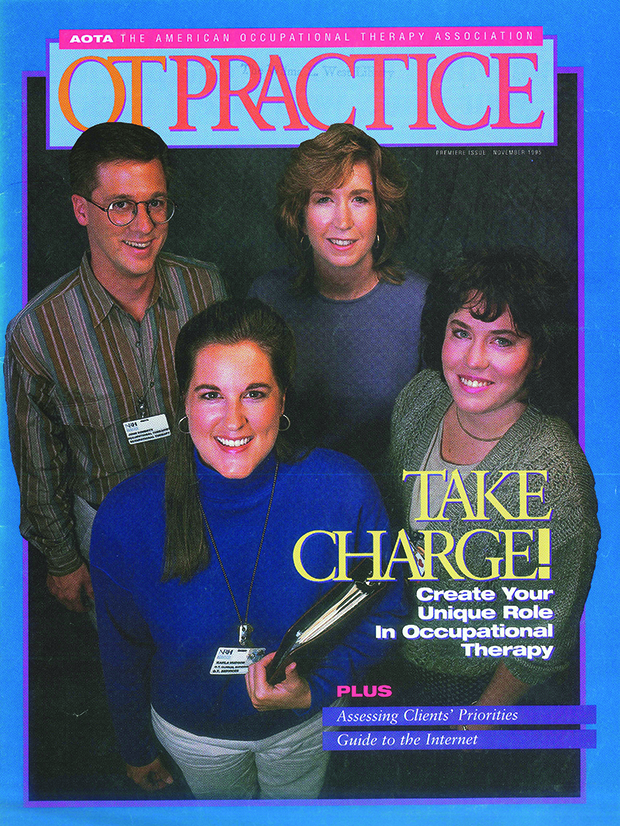 OT Practice magazine first cover from November 1995