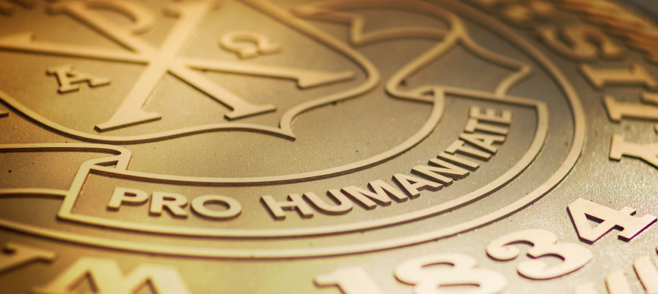 The Wake Forest University Seal - Pro Humanitate