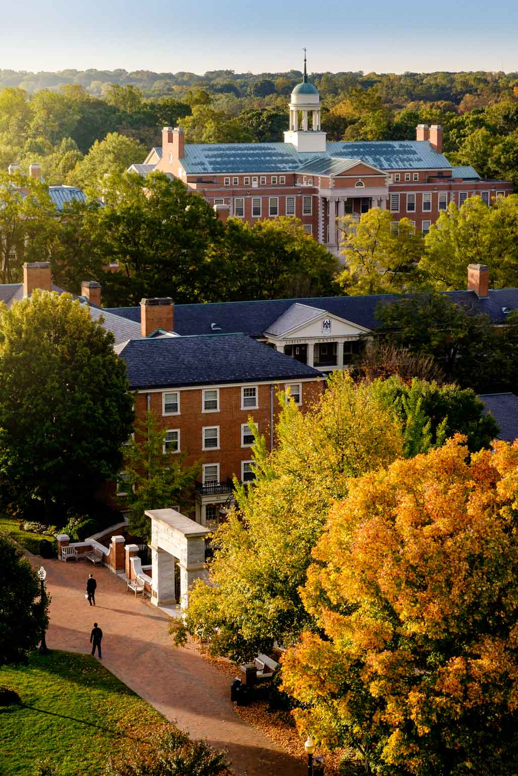 A beautiful autumn day on the Wake Forest University campus