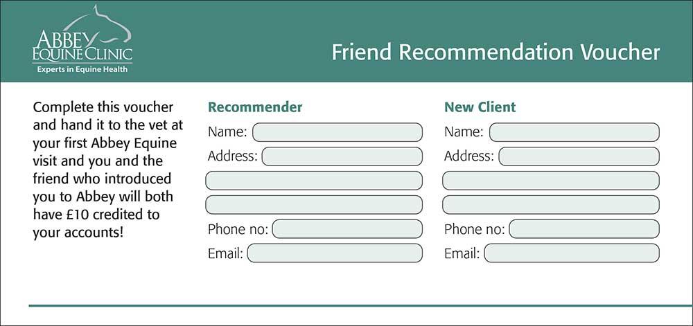 Abbey Equine Centre Recommend A Friend