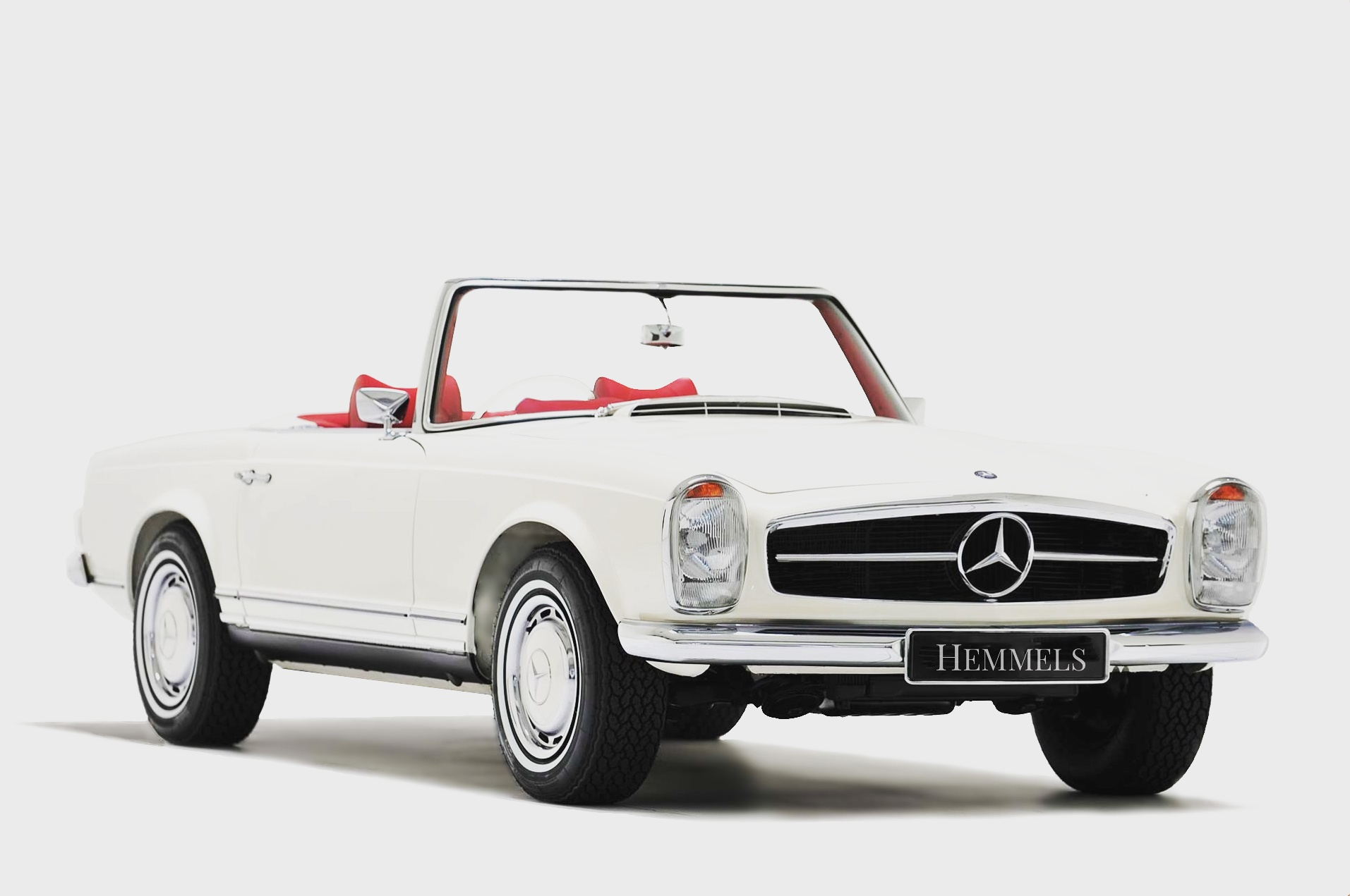 classic white 280SL from Hemmels