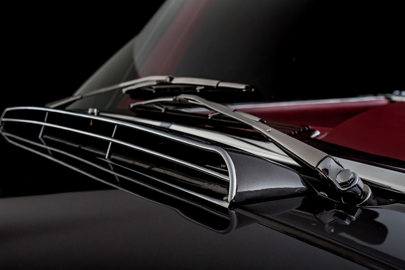classic mercedes chrome and leather interior retrimming