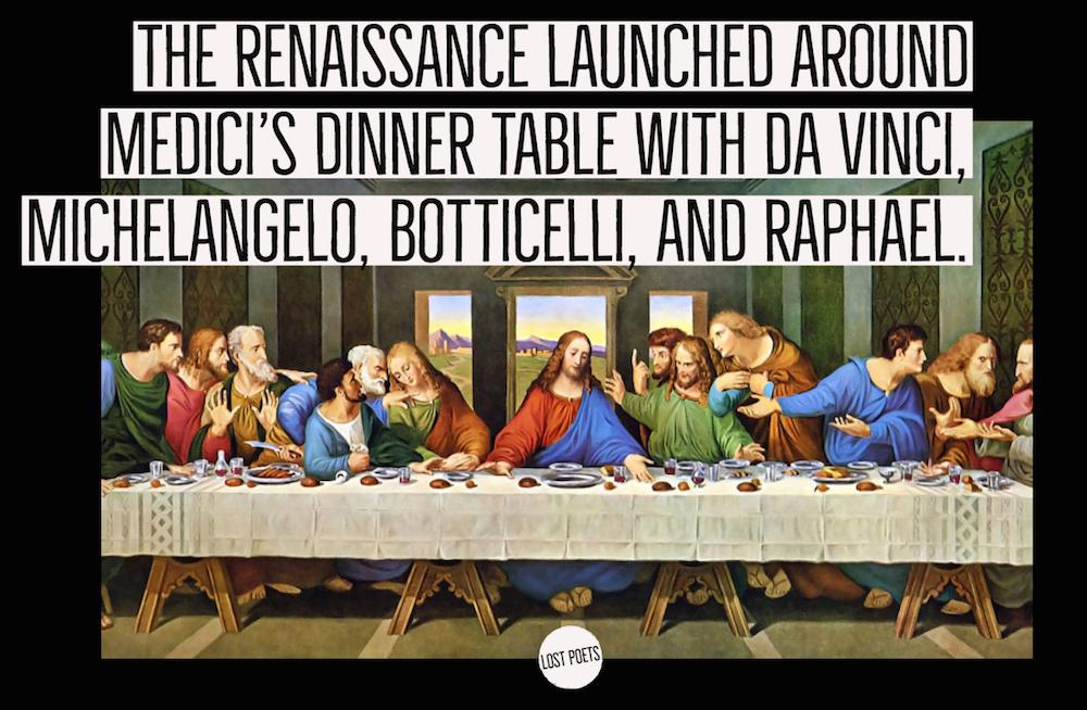 Renaissance, Michelangelo, da vinci, Raphael, art salons - lost poets chronicles - chris purifoy - gabriel sage - analog de leon