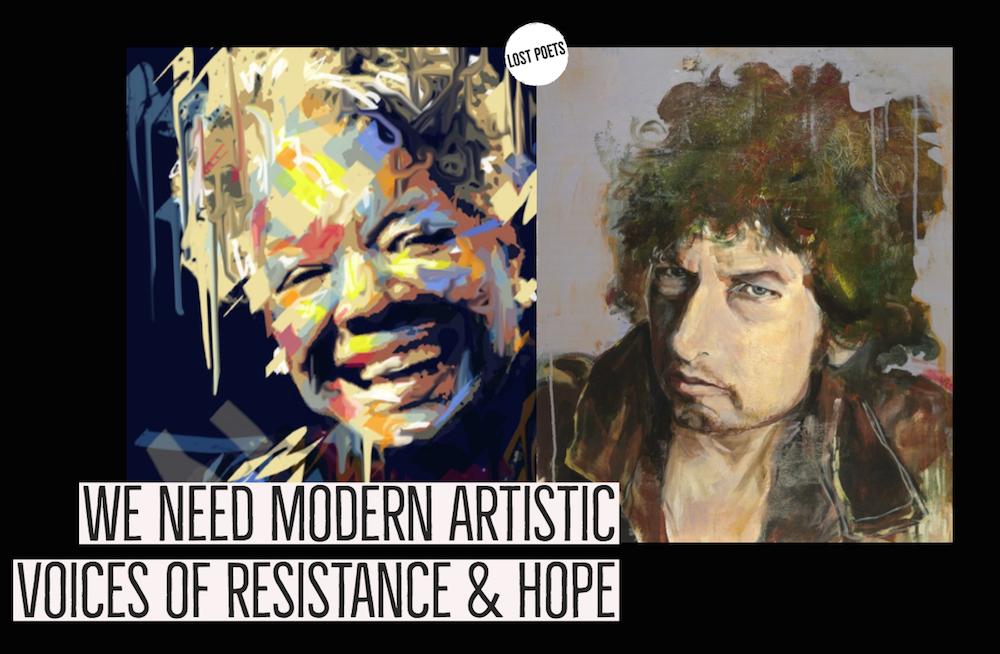 resist - bob dylan - maya angelou - art salons - lost poets chronicles - chris purifoy - gabriel sage - analog de leon