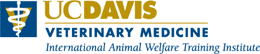 UC Davis Veterinary Medicine International Animal Welfare Training Institute Logo
