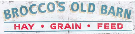 Brocco's Old Barn Logo