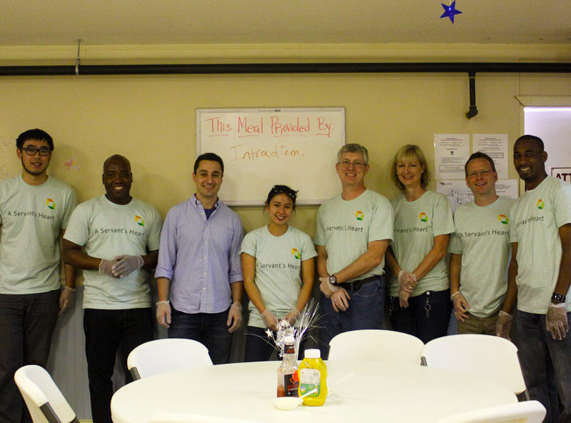 group of volunteers at MUST ministries