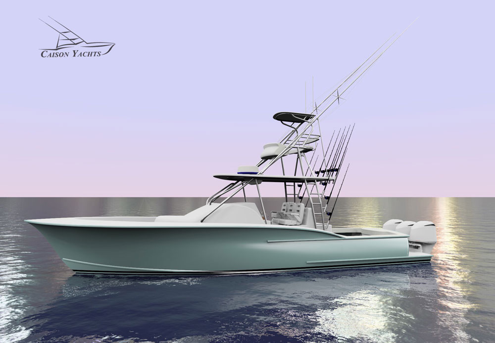 Caison 38' Center Console Rendering