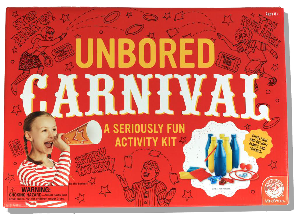 The UNBORED Carnival Kit Encourages Kids To Step Right Up And Get Started Planning An Event Full Of Fun Friendly Competition