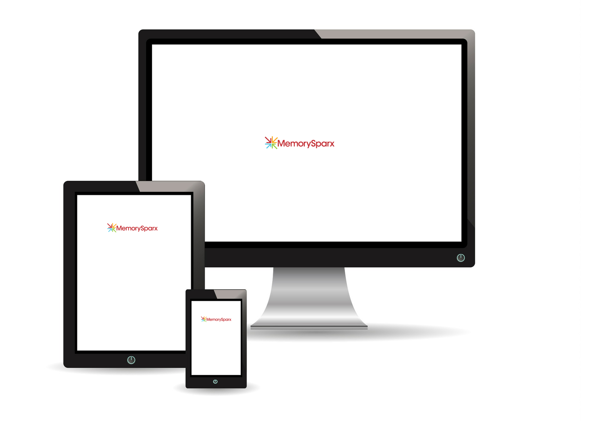 The MemorySparx app is designed for tablets, phones, and computers.