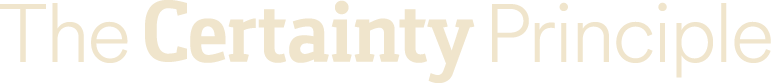 The Certainty Principle Logo