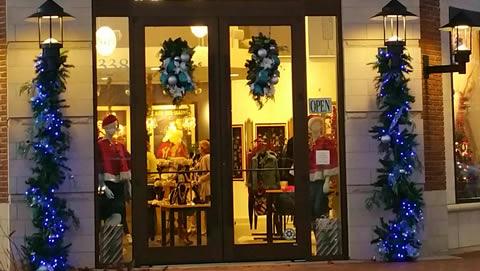 Shopping Center Entrance Holiday Decor
