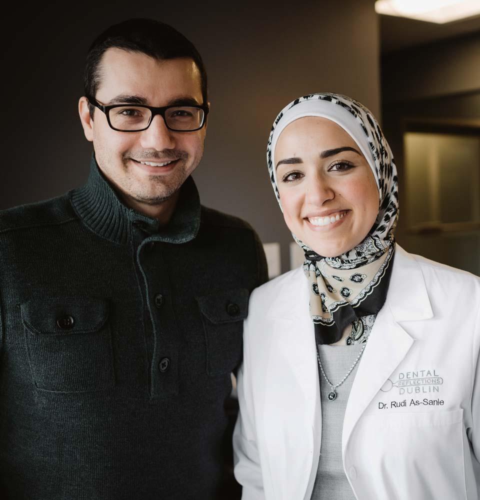 Photo of Dr. Rudi and her husband Samer
