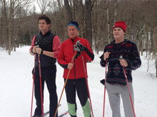 Nordic skiing precuts with my sons Bobby and Hayden