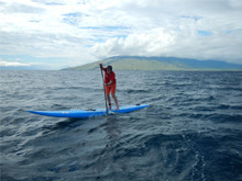 Beginning open ocean SUP off Maui with the legendary Jeremy Riggs
