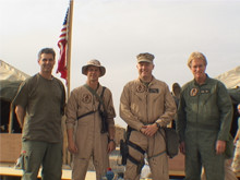 Kuwait: Embedded US Marine Corps HMM 365 with Colonel Mad Dog Murtha.