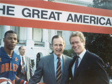 With President George Bush at the White House for the Great American Workout