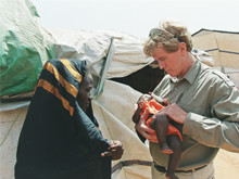 Examine a child with Malnutrition, Darfur