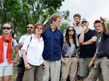 With board of Artists for Peace an Justice visiting Sean Penn's camp in Haiti after the earthquake.