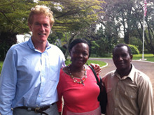 With Pastors Tabitha and Joshua.  They had asked to meet any US official.  I took them to the US Amb